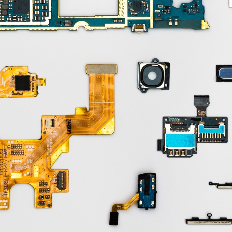 pieces of a tech device