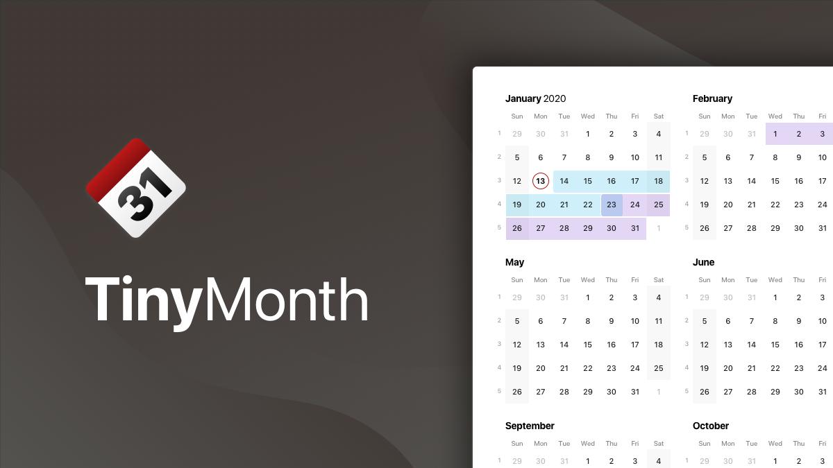 TinyMonth calendar app