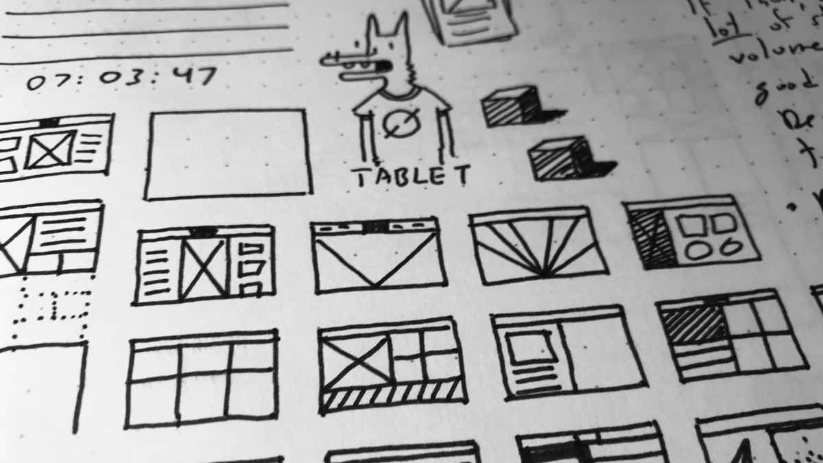 doodle product design wireframes
