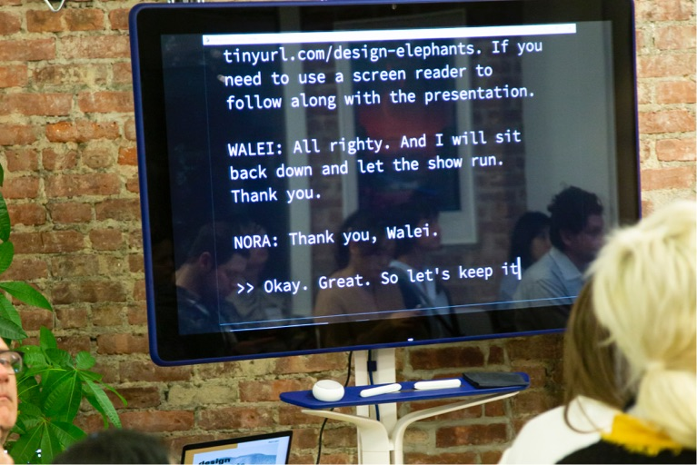 live captioning at Postlight's event