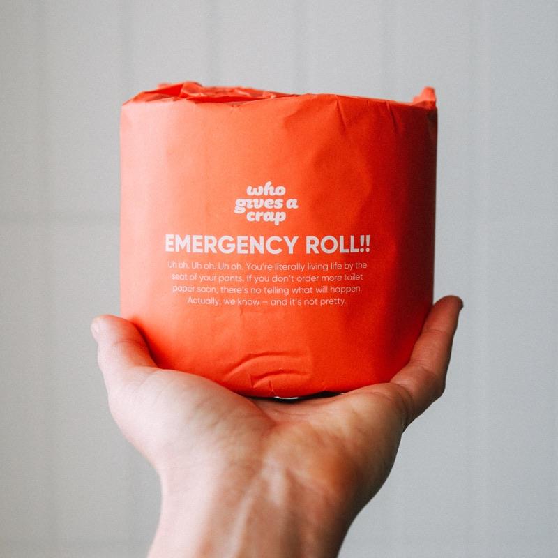 emergency roll of toilet paper