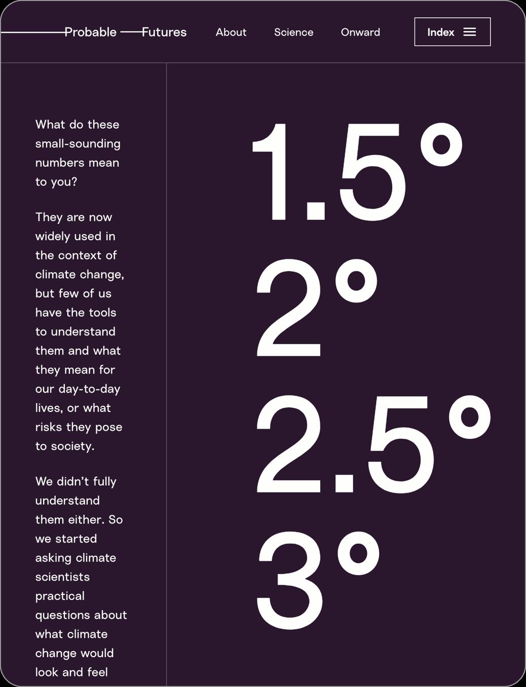 Climate change temperatures